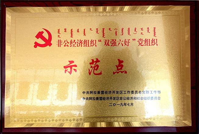非公经济组织双强六好党组织示范点